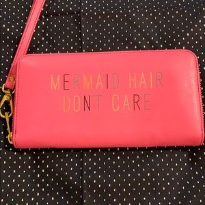 NWT Fossil Emma wallet/clutch Mermaid leather pink